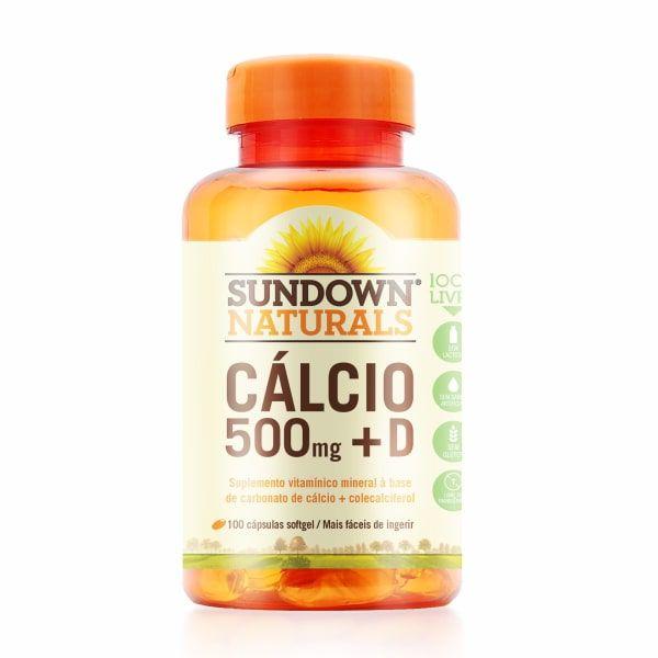 Cálcio 500mg + Vitamina D - 100 Softgel - Sundown