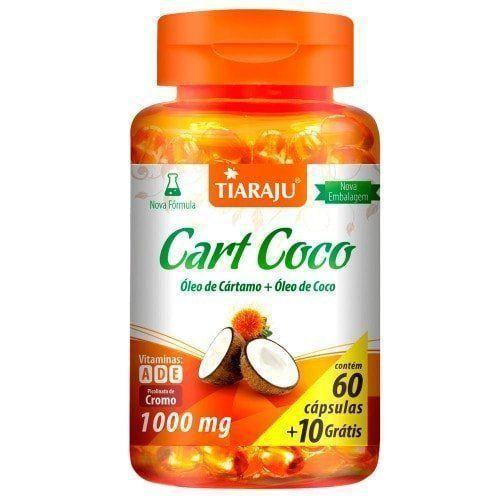 Cart Coco (Óleo de Cártamo + Óleo de Coco) - 60 Cápsulas - Tiaraju