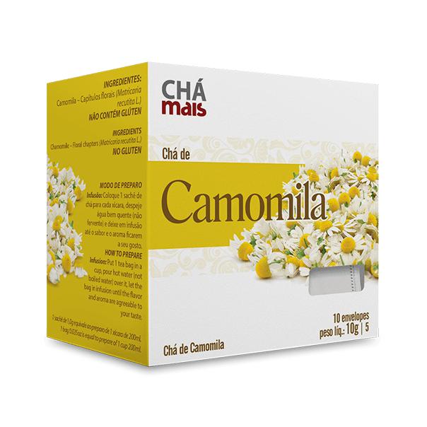 Chá de Camomila - 10 Sachês - Chá Mais