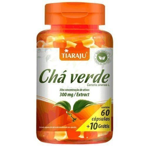 Chá Verde 300mg - 60+10 Cápsulas - Tiaraju