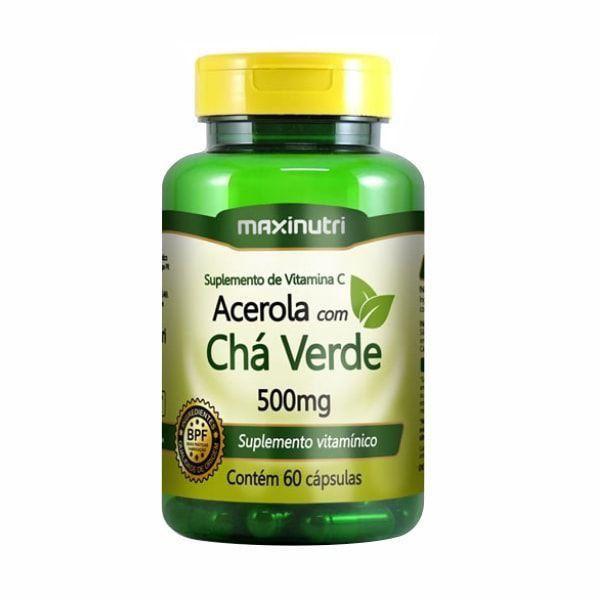 Chá Verde com Acerola - 60 Cápsulas - Maxinutri