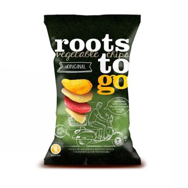 Chips de Mandioca e Batata Doce - 45g - Roots to Go