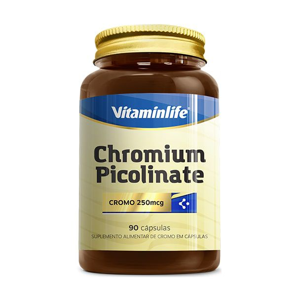 Chromium Picolinate - 90 Cápsulas - VitaminLife