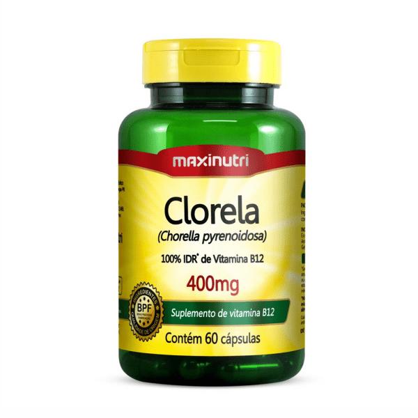 Clorela - 60 Cápsulas - Maxinutri