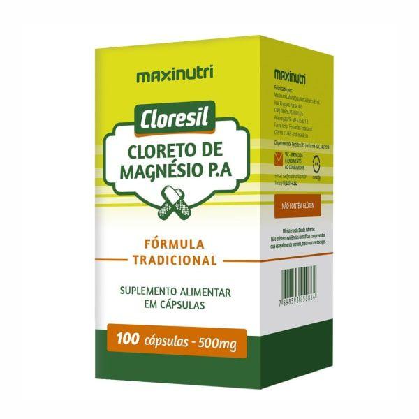 Cloresil (Cloreto de Magnésio P.A.) 500mg - 100 Cápsulas - Maxinutri