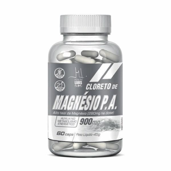 Cloreto de Magnésio - 60 Cápsulas - Health Labs