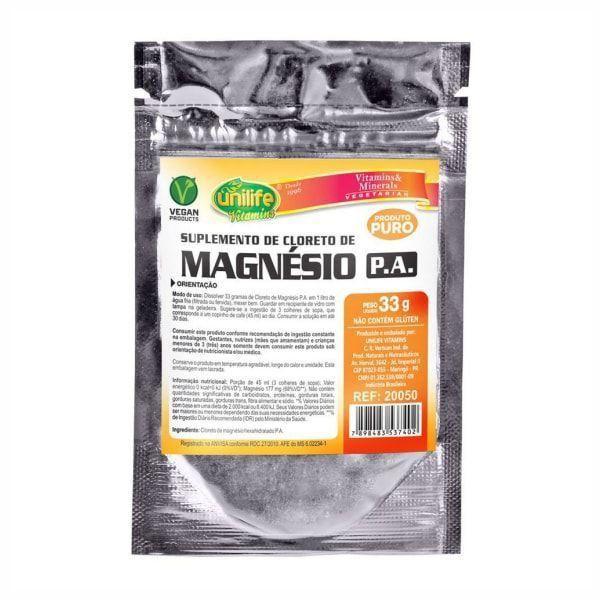 Cloreto de Magnésio P.A. - 33g - Unilife
