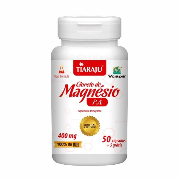 Cloreto de Magnésio P.A. - 50 + 5 Cápsulas - Tiaraju