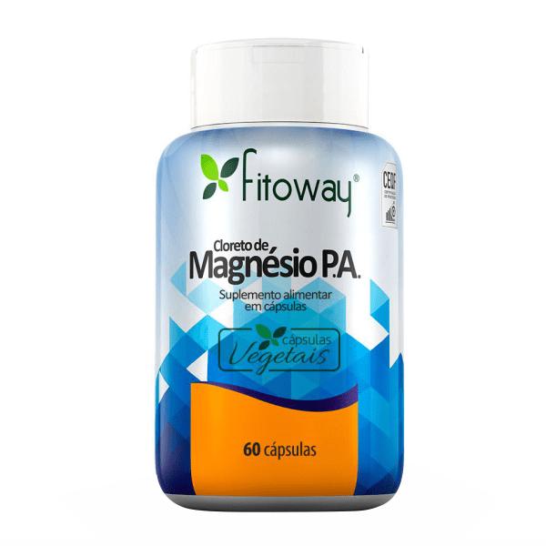 Cloreto de Magnésio P.A. - 60 Cápsulas - Fitoway