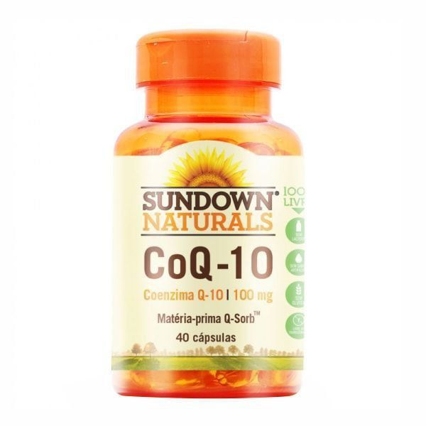 Coenzima Q10 100mg - 40 Cápsulas - Sundown