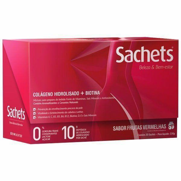 Colágeno Hidrolisado + Biotina - Beleza & Bem Estar - 330g (30 Sachês) - Sachets