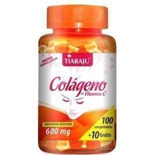 Colágeno + Vitamina C 600mg - 100+10 Cápsulas - Tiaraju