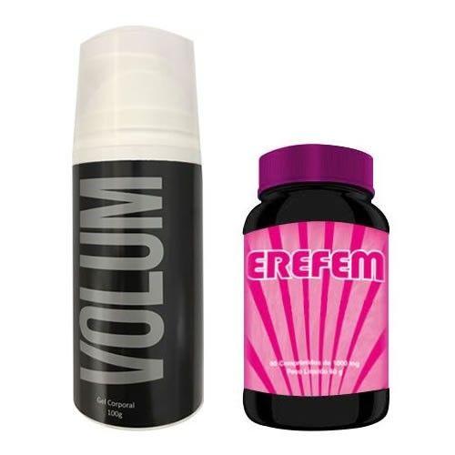 Combo Estimulante Sexual 3 - Erefem - 60 Cápsulas + Volum - 100g