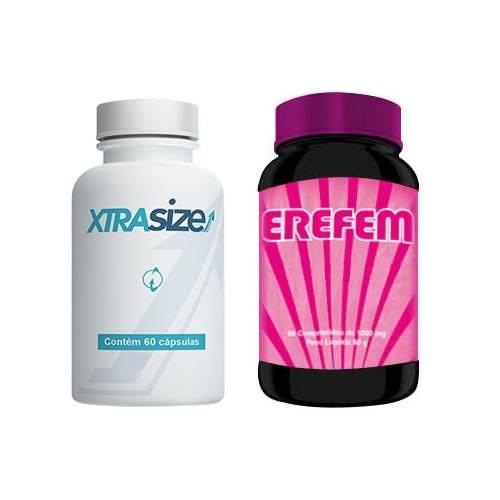 Combo Estimulante Sexual 5 - Xtrasize - 60 Cápsulas + Erefem - 60 Cápsulas