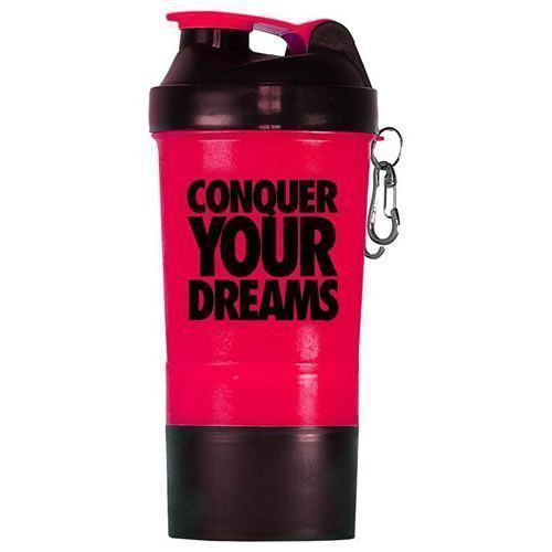 Coqueteleira Shaker Rosa c/ Divisória - 500ml - Iridium Labs