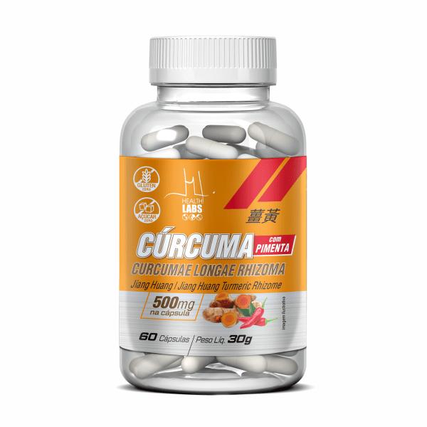 Cúrcuma com Pimenta Preta - 60 Cápsulas - Health Labs