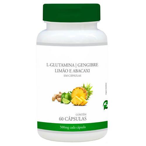 Detox Mais (L-Glutamina, Gengibre, Abacaxi e Limão) - 60 Cápsulas - Promel