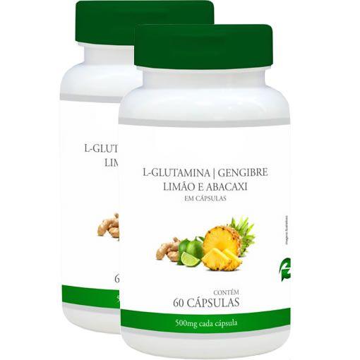 Detox Mais (L-Glutamina, Gengibre, Abacaxi e Limão) - Promoção 2 Unidades - Promel