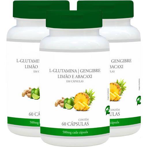 Detox Mais (L-Glutamina, Gengibre, Abacaxi e Limão) - Promoção 3 Unidades -  Promel