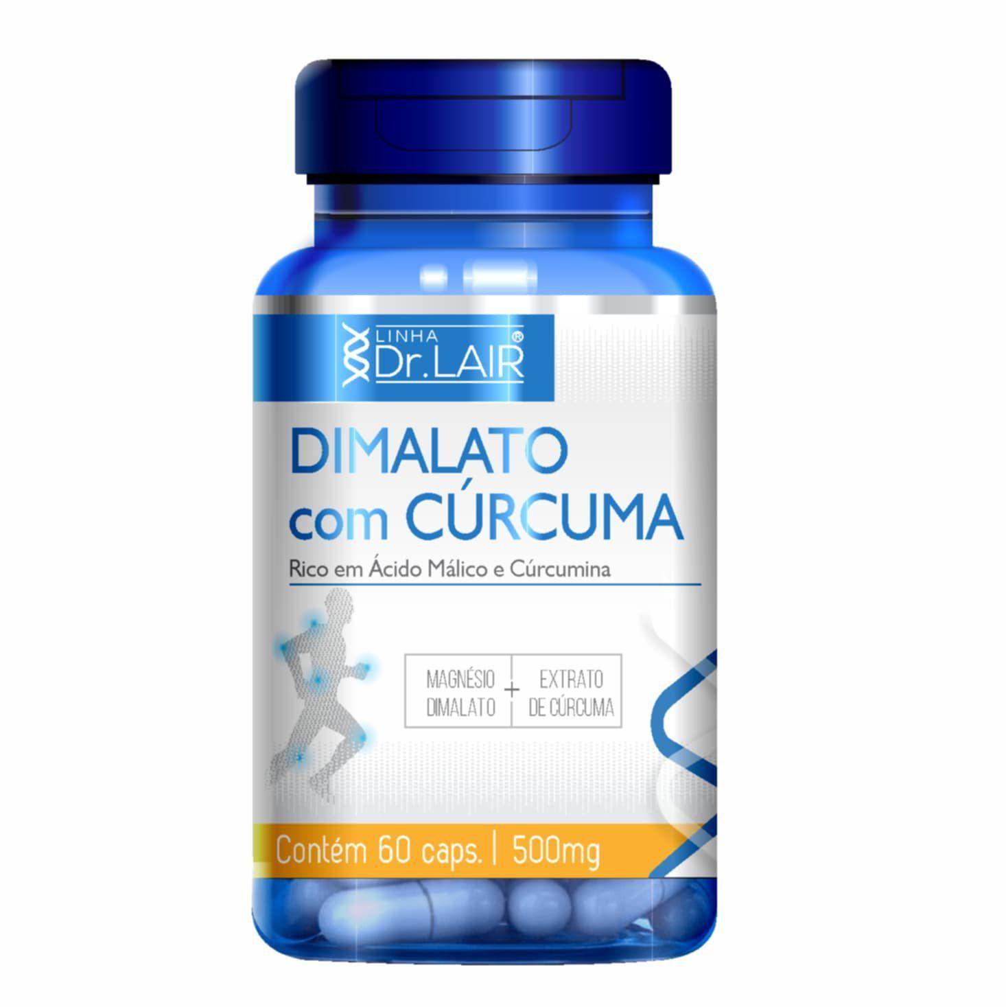 Dimalato com Cúrcuma - 60 Cápsulas - Dr. Lair UpNutri