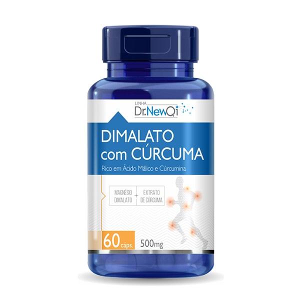 Dimalato com Cúrcuma - 60 Cápsulas - Dr. New QI UpNutri