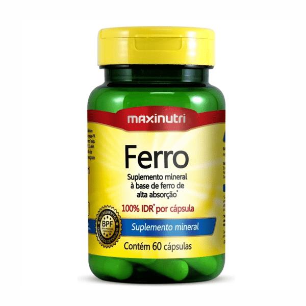 Ferro - 60 Cápsulas - Maxinutri