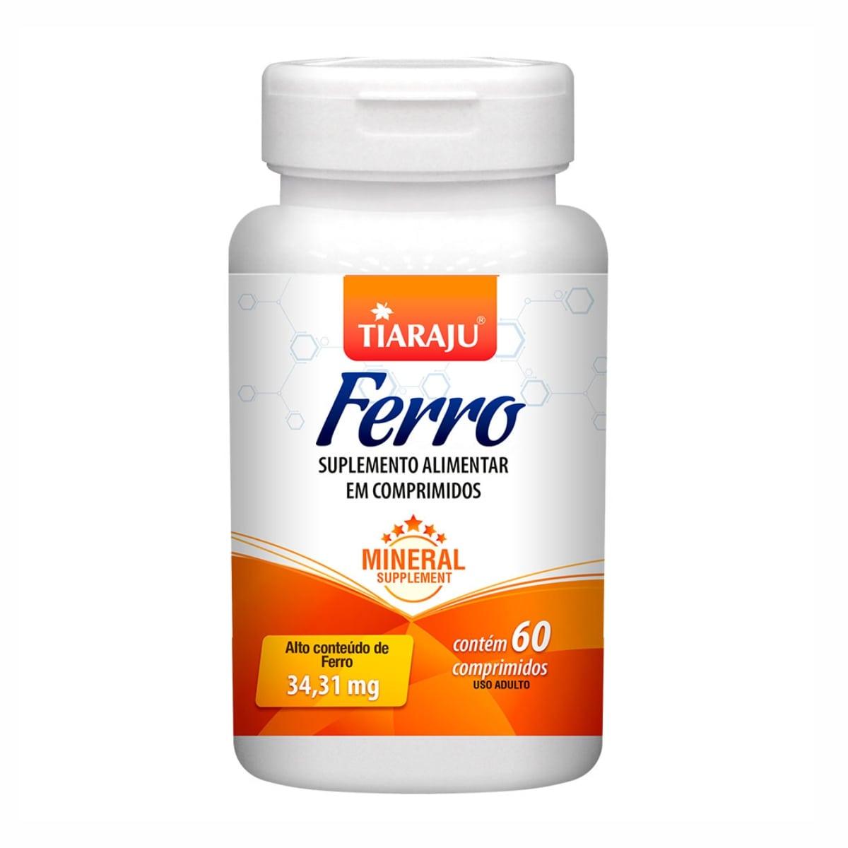 Ferro - 60 Comprimidos - Tiaraju