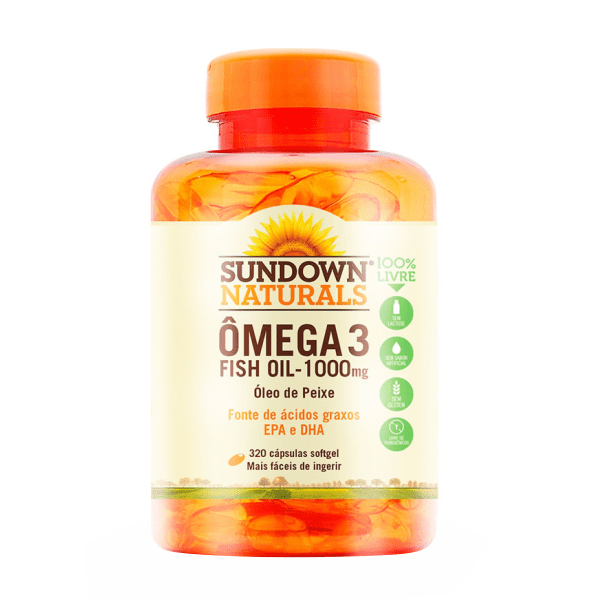 Ômega 3 (Fish Oil) 1000mg - 320 Cápsulas - Sundown