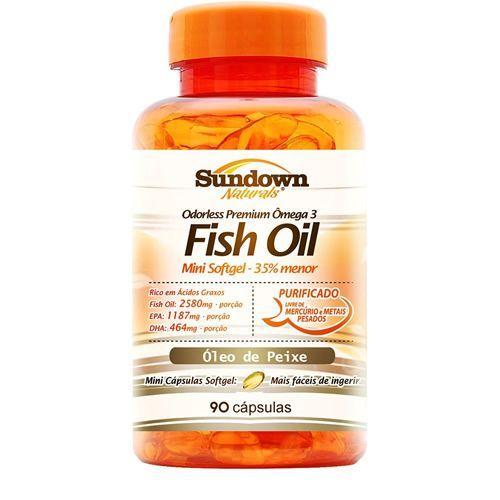 Fish Oil - Óleo de Peixe - 90 Cápsulas - Sundown