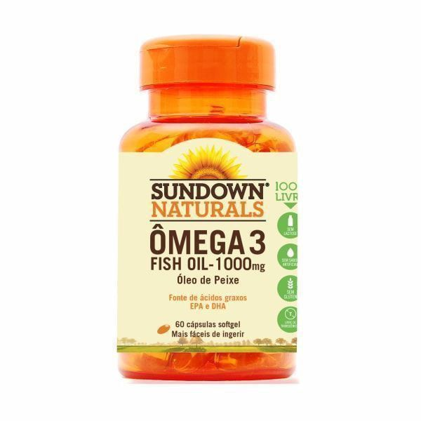 Ômega 3 (Fish Oil) 1000mg - 60 Cápsulas - Sundown