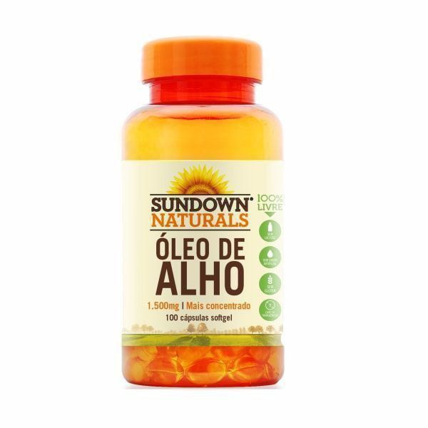 Óleo de Alho (Garlic Oil) 1500mg  - 100 Cápsulas - Sundown