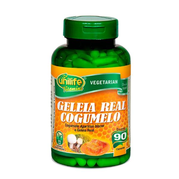 Geleia Real Cogumelo - 90 Cápsulas - Unilife