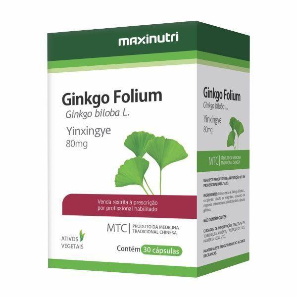 Ginkgo Folium (Ginkgo Biloba) - 30 Cápsulas - Maxinutri