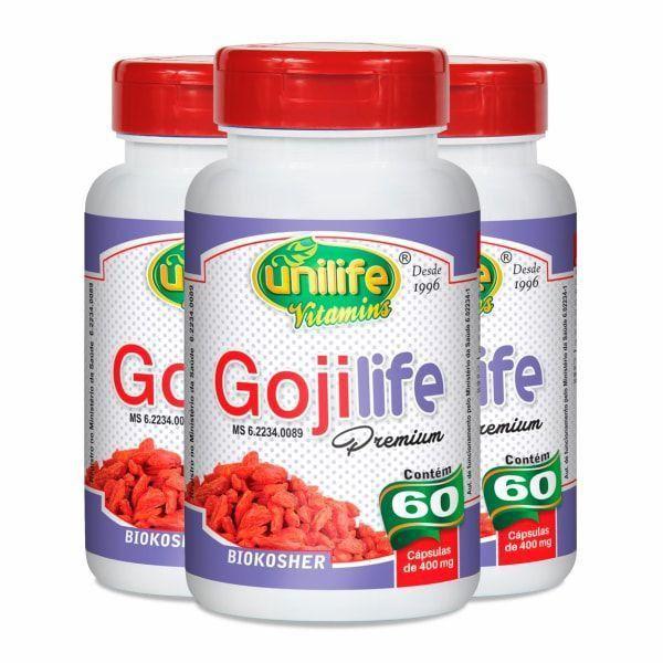 Goji Life - Promoção 3 Unidades - Unilife