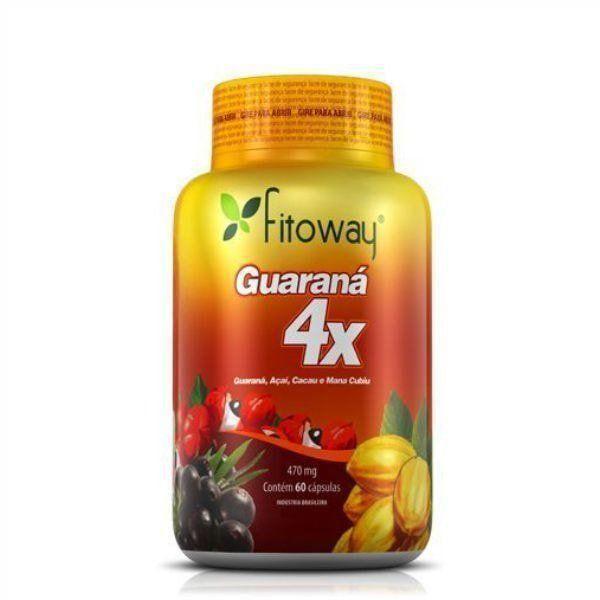 Guaraná 4x - 60 Cápsulas - Fitoway