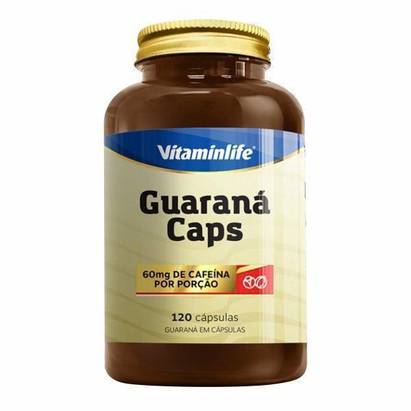 Guaraná Caps 60mg - 120 Cápsulas - Vitaminlife