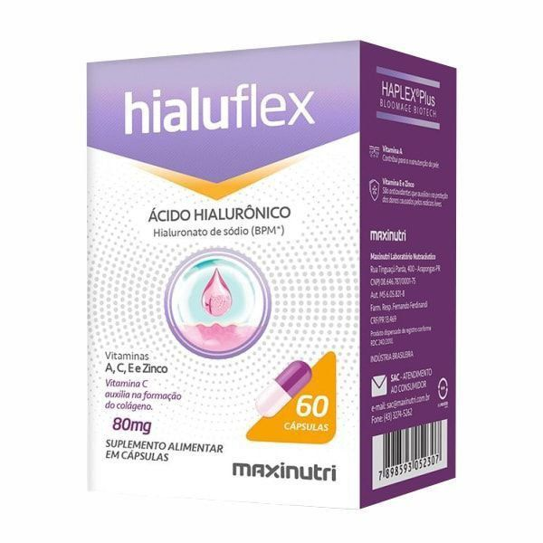 Hialuflex 80mg - 60 Cápsulas - Maxinutri
