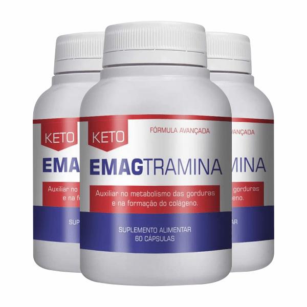 Keto Emagtramina Original - Promoção 3 Unidades