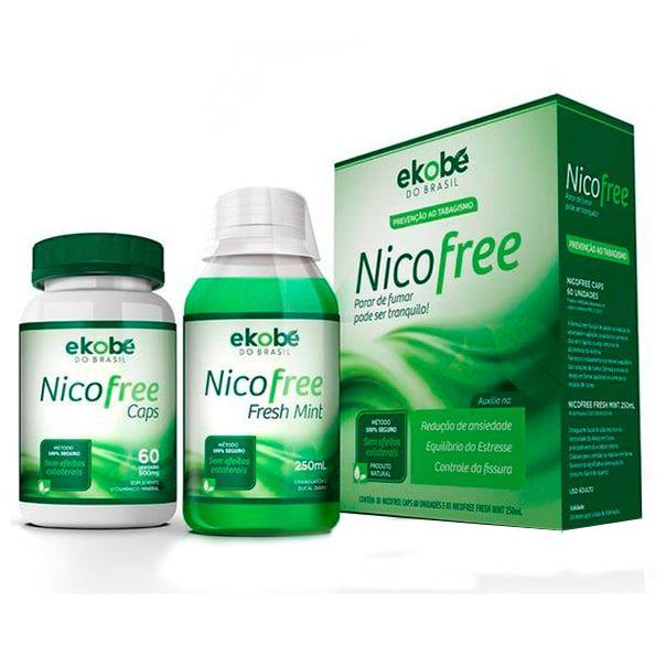 Kit Nico Free (Nico Free Caps 60 Cápsulas + Nico Free Fresh Mint 250ml) - Ekobé