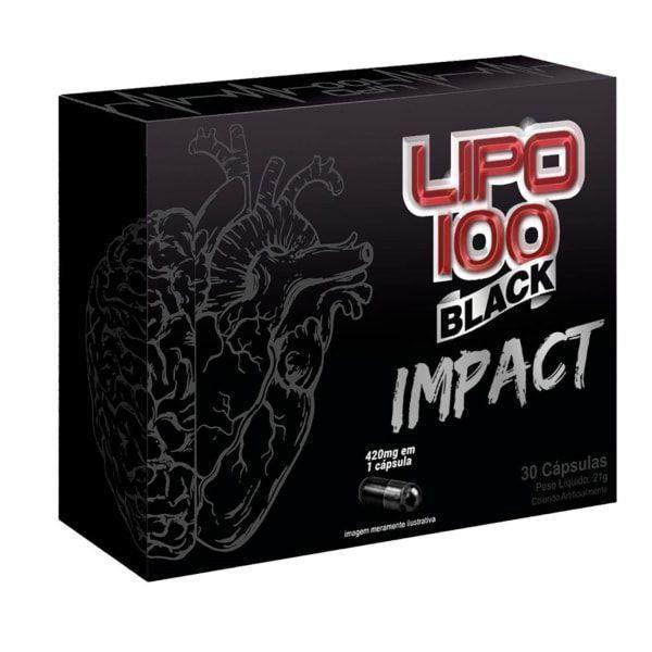 Lipo 100 Black Impact - 30 Cápsulas - Intlab