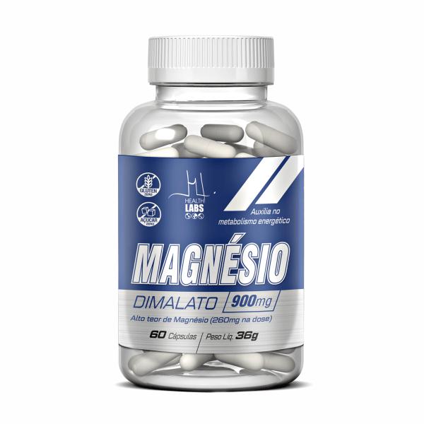 Magnésio Dimalato - 60 Cápsulas - Health Labs