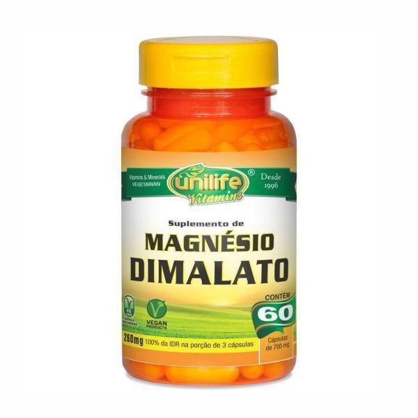 Magnésio Dimalato - 60 Cápsulas - Unilife