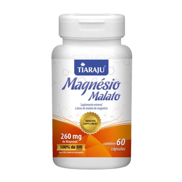 Magnésio Malato - 60 Cápsulas - Tiaraju
