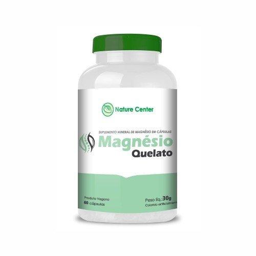 Magnésio Quelato - 60 Cápsulas - Nature Center - Promoção Compre 3 Leve 4