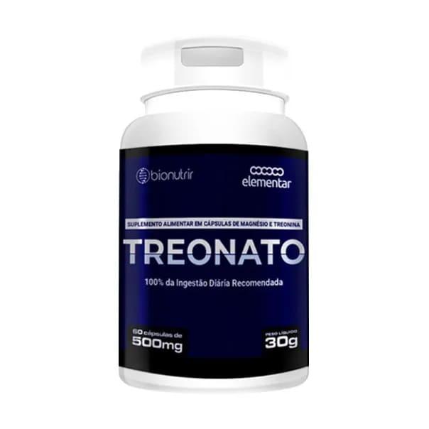 Magnésio Treonato - 60 Cápsulas - Bionutrir