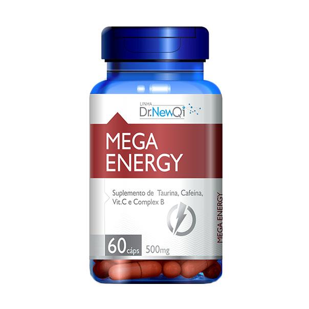 Mega Energy - 60 Cápsulas - Dr. New QI UpNutri
