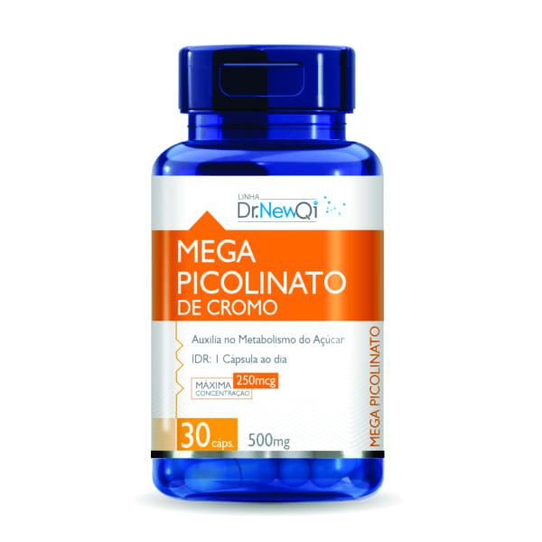 Mega Picolinato de Cromo - 30 Cápsulas - Dr. New QI UpNutri