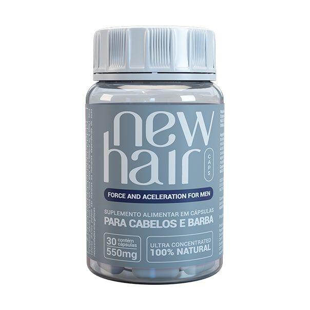 New Hair Caps Masculino - 30 Cápsulas - Vitabe
