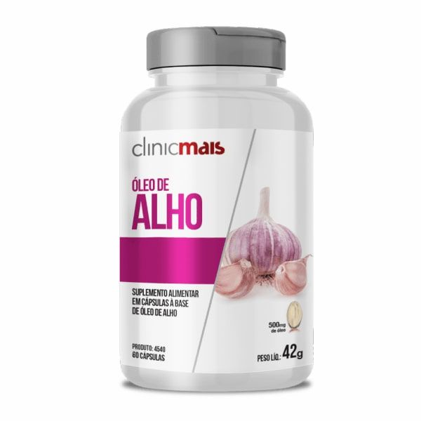 Óleo de Alho - 60 Cápsulas - ClinicMais