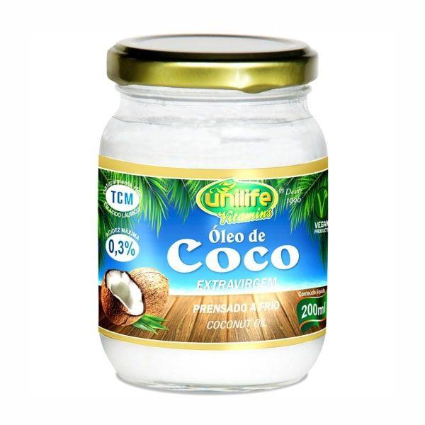 Óleo de Coco Extra Virgem - 200ml - Unilife